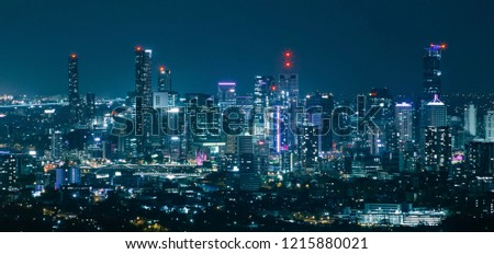 Brisbane night city skyline view #1215880021