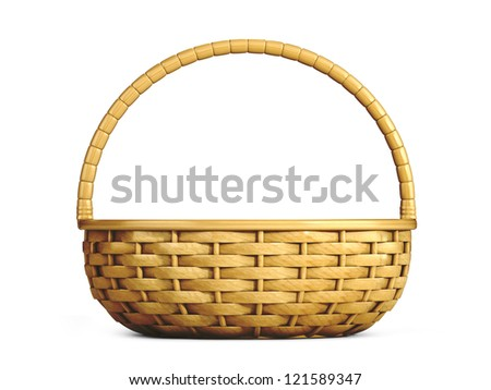 3d render of an emplty basket