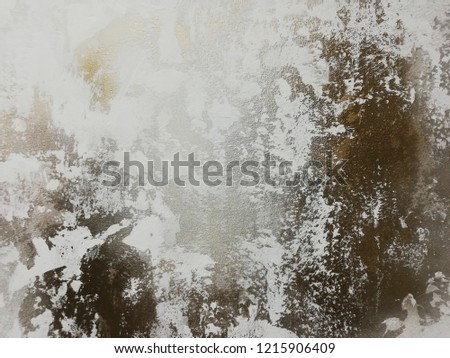 White with gold concrete wall texture or grunge style background #1215906409