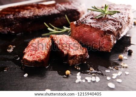 Barbecue Rib Eye Steak or rump steak - Dry Aged Wagyu Entrecote Steak #1215940405