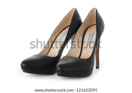 Nice woman shoes isolated on white Royalty-Free Stock Photo #121622095