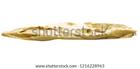 Yellow mustard sauce isolated on white background #1216228963