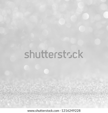 silver and white bokeh lights abstract background #1216249228