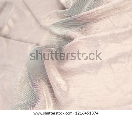 creative abstract background of folded brown cloth. #1216451374