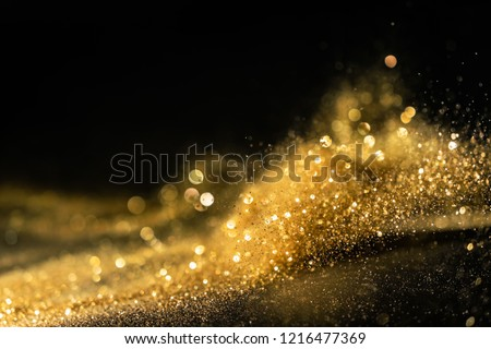glitter lights grunge background, gold glitter defocused abstract Twinkly Lights Background. #1216477369