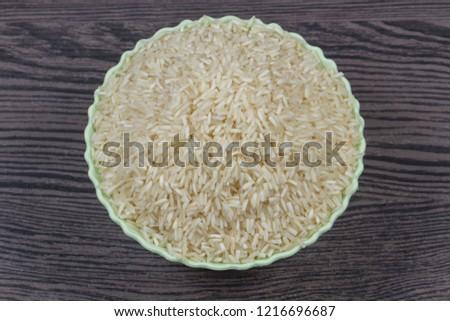 indian basmati rice isolated on texture background #1216696687