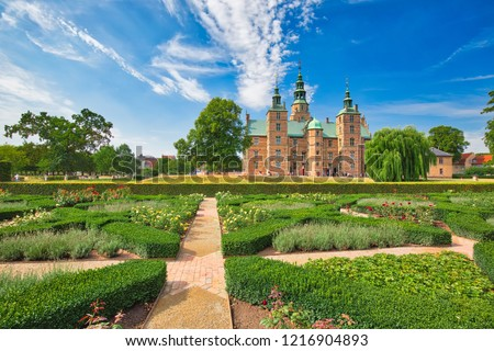 King Garden, the oldest and most visited park in Copenhagen, Denmark-located near Rosenborg Palace #1216904893
