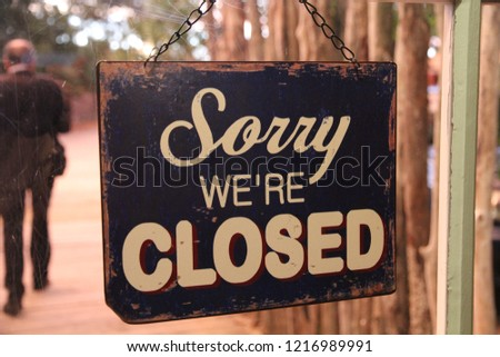 Sorry we're closed #1216989991