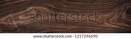 Super long walnut planks texture background.Dark tone walnut texture,Walnut natural texture, texture elements. #1217296690