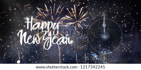 Happy New Year 2019 background #1217342245