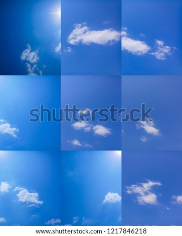 Blue sky and cloud #1217846218