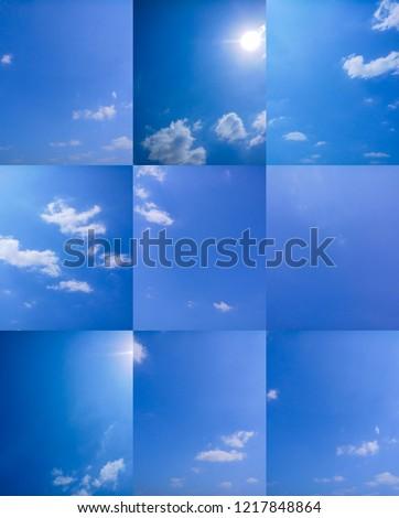 Blue sky and cloud #1217848864