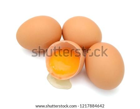 close up of egg isolated on white background #1217884642