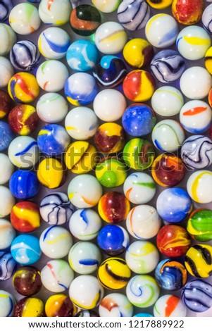 Colored glass balls  #1217889922