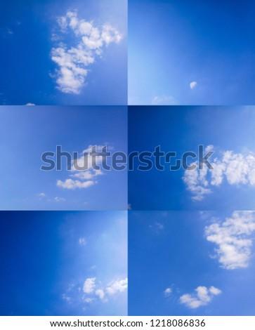 Blue sky and cloud #1218086836
