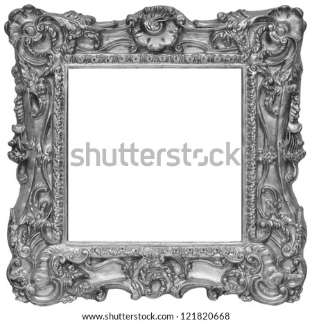Silver rustic photo frame