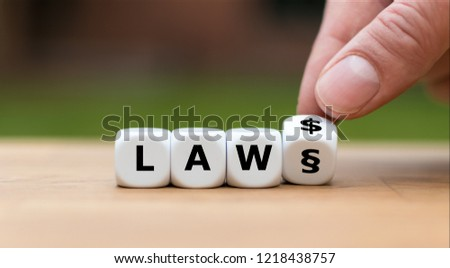 """Letters on dice form the word """"LAW"""" #1218438757"""