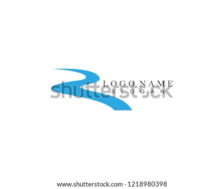 River Logo Template Royalty-Free Stock Photo #1218980398