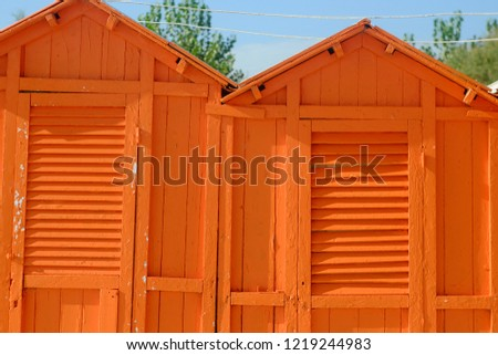 orange wooden wooden building, the theme of wallpaper and interior  #1219244983