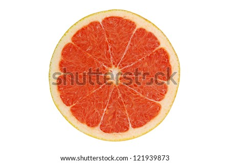 grape-fruit  on white background #121939873