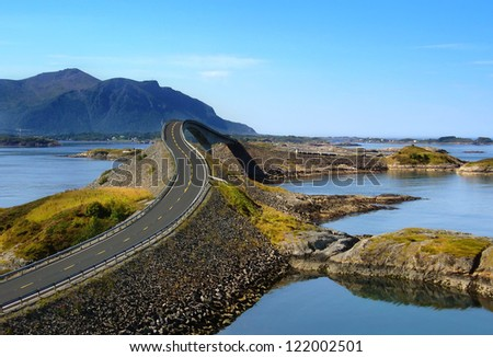 Atlantic road, Norway (Atlanterhavsvegen) Royalty-Free Stock Photo #122002501
