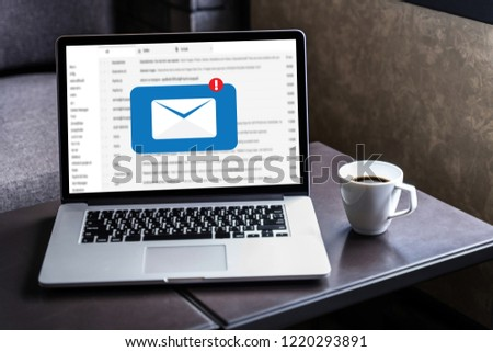 Mail Communication Connection message to mailing contacts phone Global Letters Concept #1220293891
