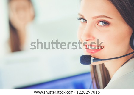 woman in call center #1220299015