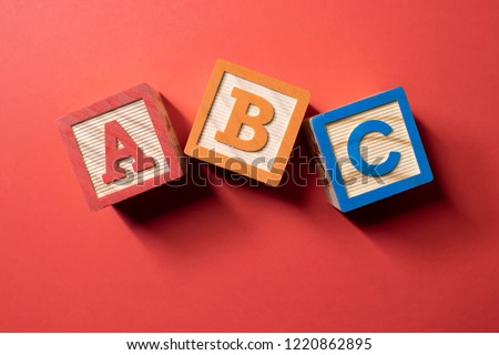 A, B and C wooden blocks Royalty-Free Stock Photo #1220862895