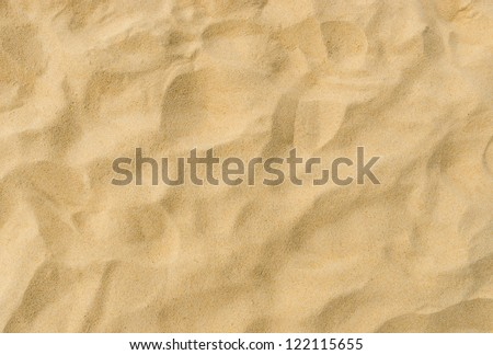 closeup of sand pattern of a beach in the summer Royalty-Free Stock Photo #122115655