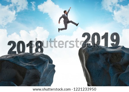Concept of transition between 2018 and 2019 #1221233950
