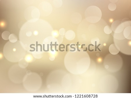 Golden background with soft bokeh lights #1221608728
