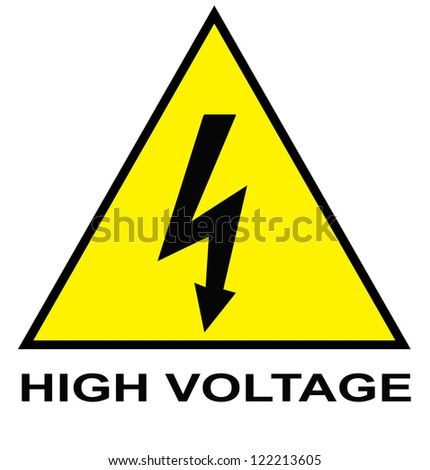 Attention sign with yellow surface Royalty-Free Stock Photo #122213605
