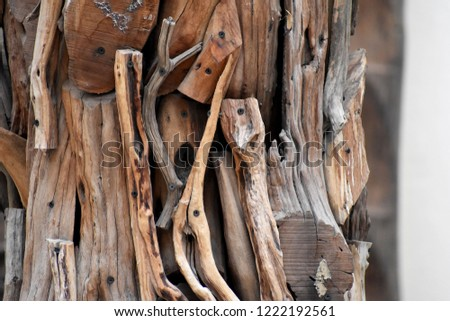 pieces of carved wood #1222192561
