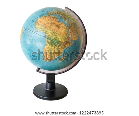 World, Earth, Globe on white background and clipping path. #1222473895