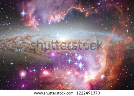 Awesome galaxy in outer space. Starfields of endless cosmos. Elements of this image furnished by NASA #1222491370
