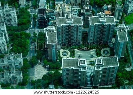 Stunning view over Taipei in Taiwan #1222624525