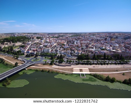 Aerial view in Badajoz. Extremadura, Spain. Drone Photo #1222831762