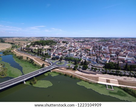 Aerial view in Badajoz. Extremadura, Spain. Drone Photo #1223104909
