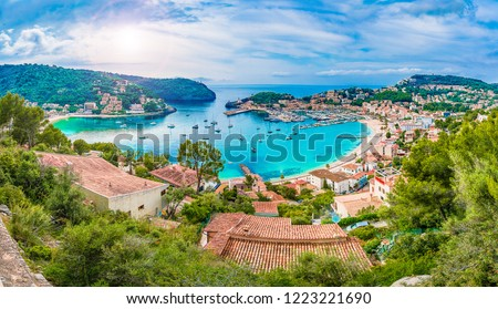 Panoramic view of Porte de Soller, Palma Mallorca, Spain #1223221690
