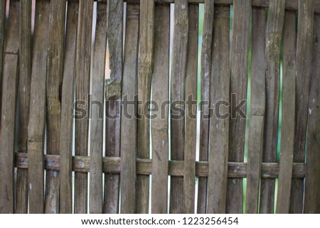 old wooden wall for background. #1223256454