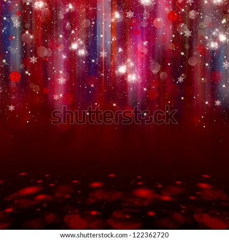 abstract red twinkled christmas background