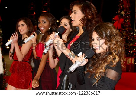 LOS ANGELES - DEC 19:  Fifth Harmony at the 'X Factor' Season Finale performances  show taping at CBS Television City on December 19, 2012 in Los Angeles, CA #122366617