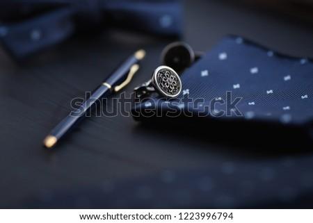 luxury men's cufflinks with pen #1223996794