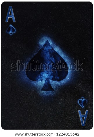Ace of  Spades playing card Abstract Background Royalty-Free Stock Photo #1224013642