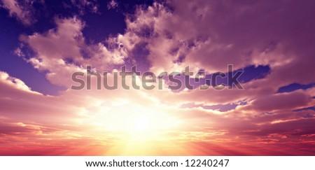 Beautiful sunset #12240247