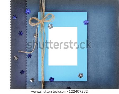 Empty card on vintage background