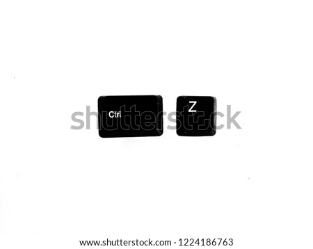 shortcut keys ctrl z for undo keyboard button isolated on white background #1224186763