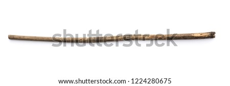 magic staff on a white background Royalty-Free Stock Photo #1224280675