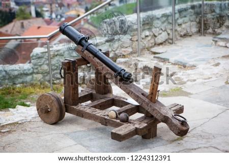 Travnik,  Central Bosnia Canton / Bosnia and Herzegovina - 04.27.2014: Travnik Fortress #1224312391