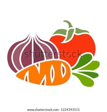 vector vegetables icon. Flat illustration of vegetables. vegetables isolated on white background. vegetables sign symbol  #1224393511
